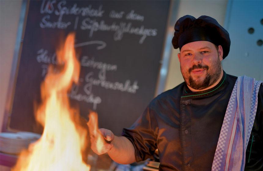 Abgrillen in der WaTT's Brasserie und Restaurant in Ettlingen