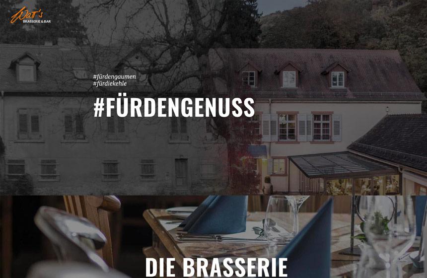die neue Website der WaTT's Brasserie | Restaurant | Bar | Biergarten in Ettlingen